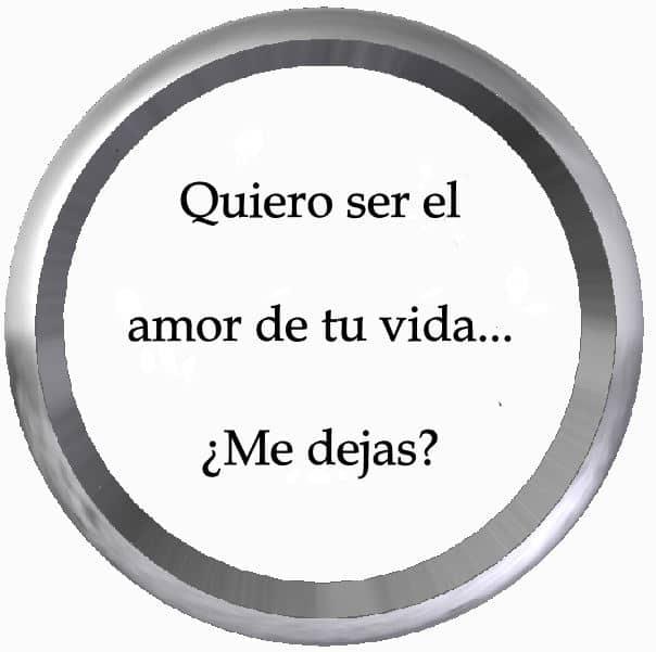 Quiero ser el amor de tu vida… ¿Me dejas?